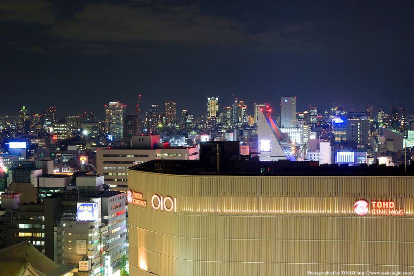 スイスホテル南海大阪から 梅田方面の夜景