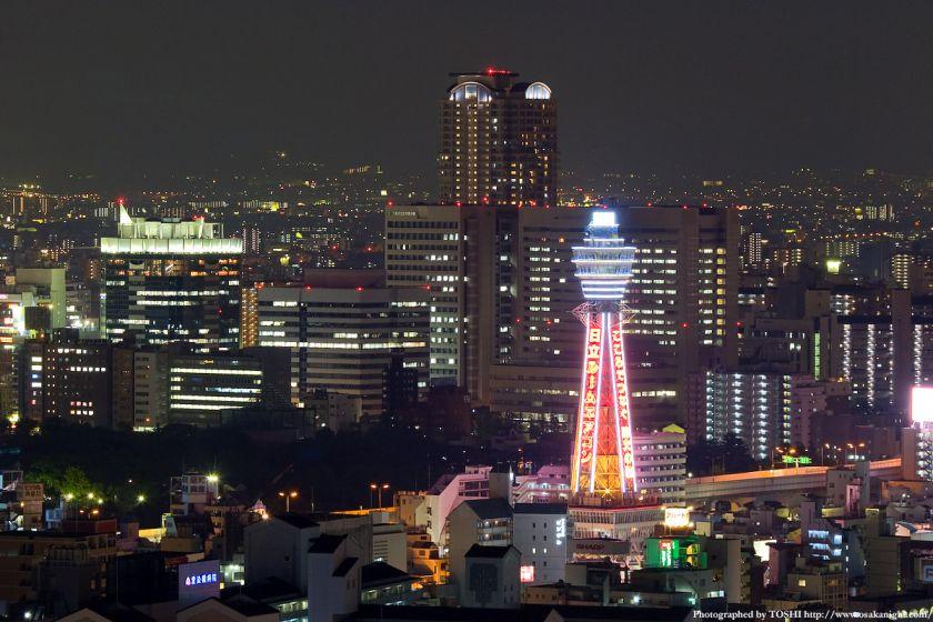 スイスホテル南海大阪から 通天閣のライトアップ夜景
