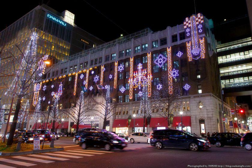 大丸心斎橋店 本館 夜景 2015年12月 02