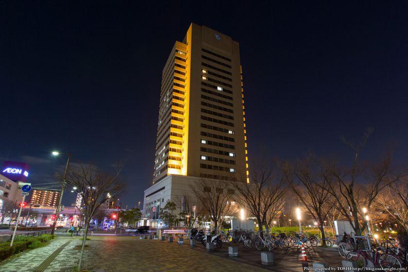 東大阪市役所 展望ロビーからの夜景 (東大阪ジャンクション)