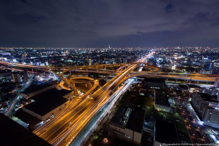 東大阪市役所からの夜景 2016年1月 01