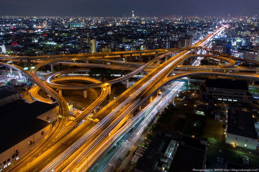 東大阪市役所からの夜景 2016年1月 02 東大阪ジャンクション
