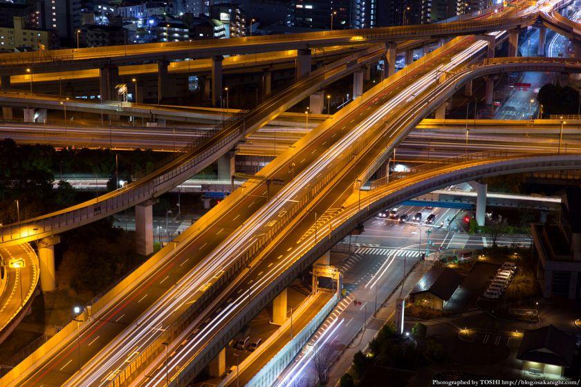 東大阪市役所からの夜景 2016年1月 04 東大阪ジャンクション
