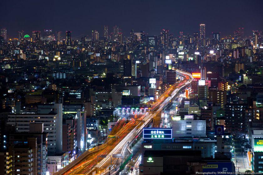 東大阪市役所からの夜景 2016年1月 07 大阪都心