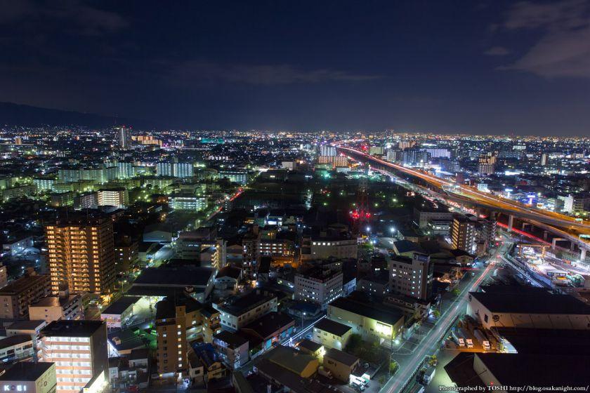 東大阪市役所からの夜景 2016年1月 09
