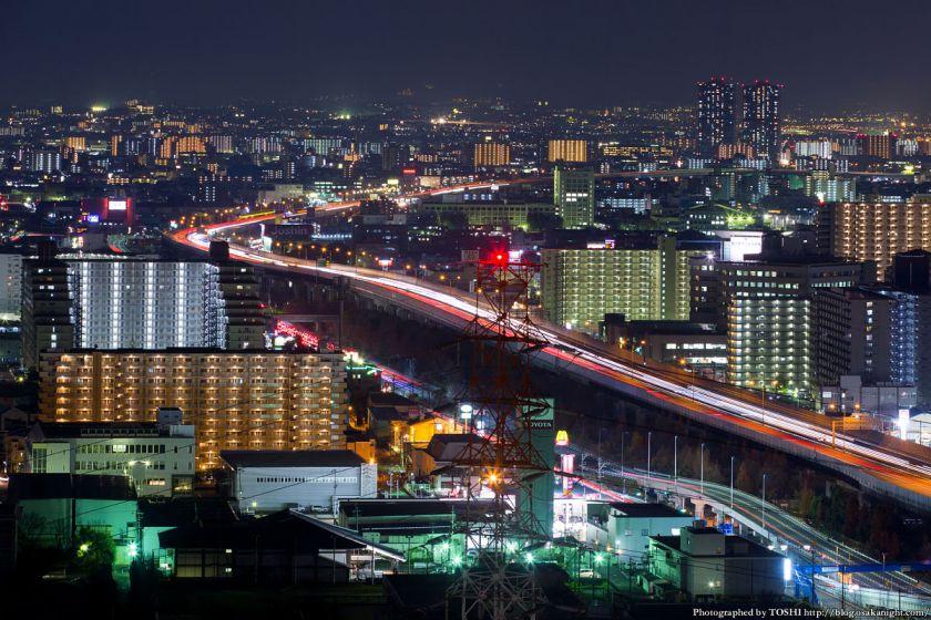 東大阪市役所からの夜景 2016年1月 10 近畿自動車道