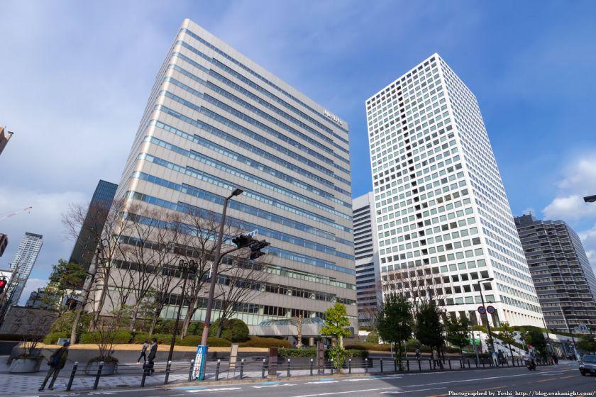 メットライフ本町スクエア(旧・大阪丸紅ビル)と大阪国際ビル 2016年2月