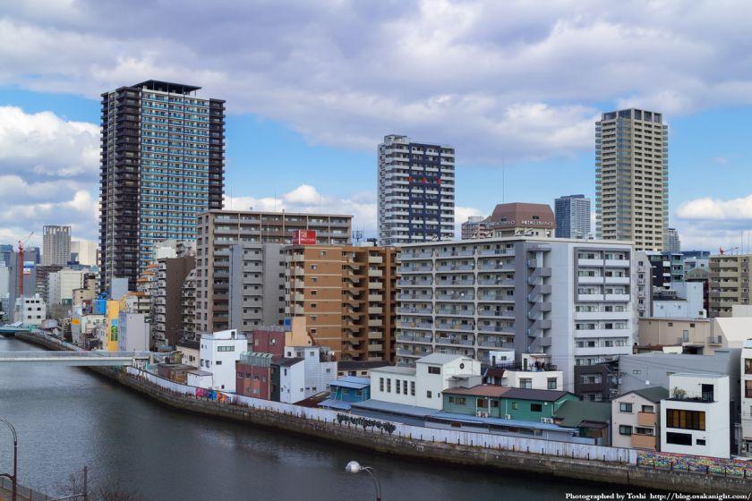 堀江の高層マンション群 2016年2月