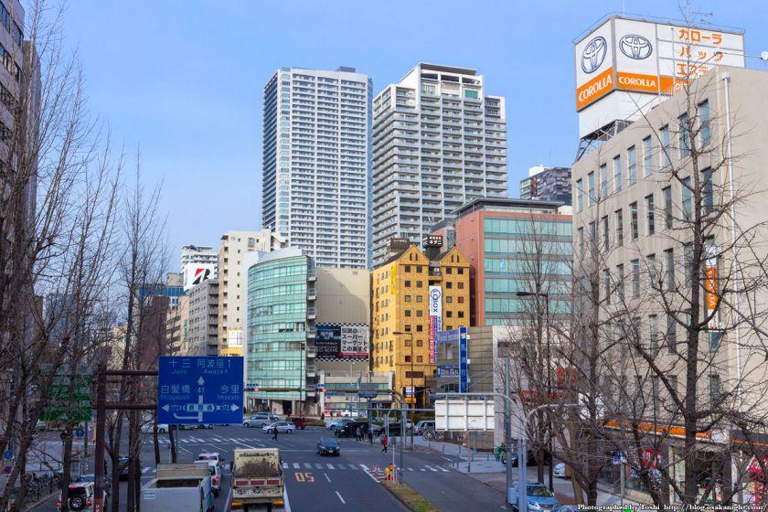 なにわ筋 西大橋交差点 2016年2月