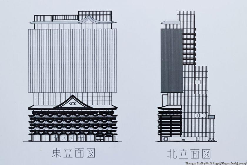 (仮称)ベルコ難波ホテル 新築工事 立面図