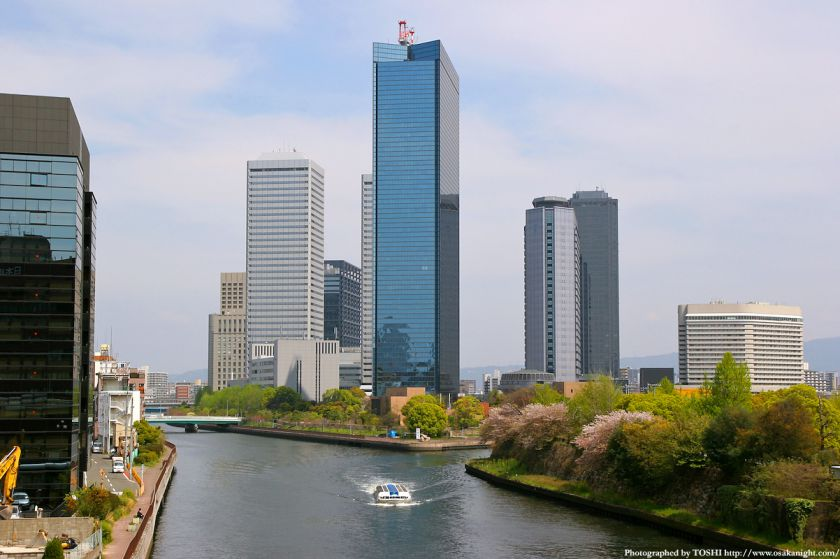大坂橋から見たOBP方面(大阪ビジネスパーク)