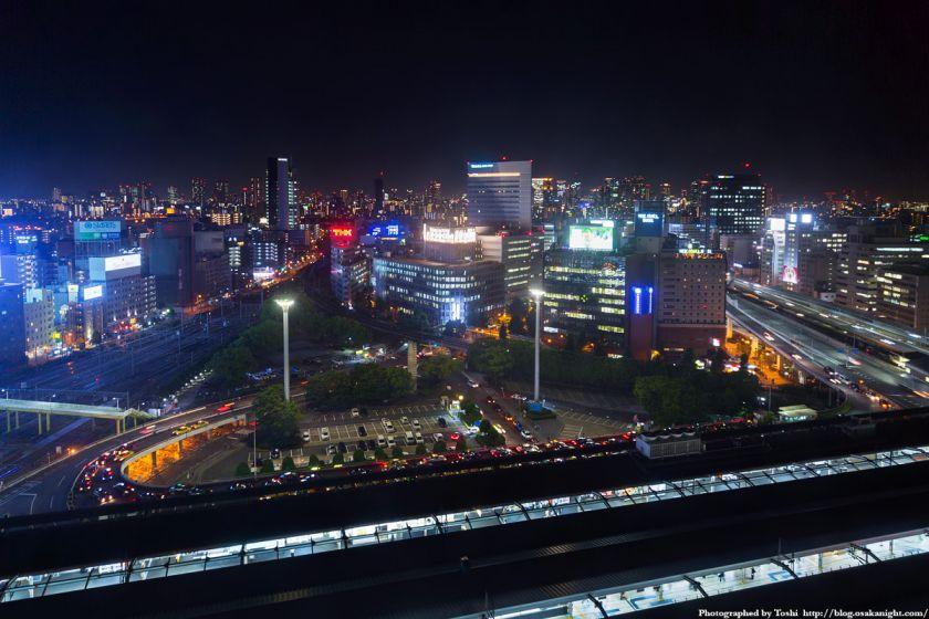 レム新大阪 南側 夜景 (新大阪駅前) 2016年6月 01