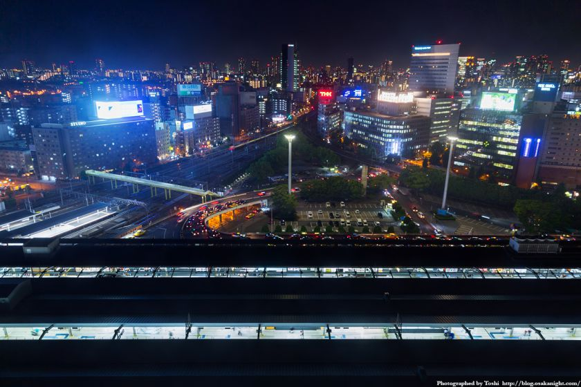 レム新大阪 南側 夜景 (新大阪駅前) 2016年6月 02