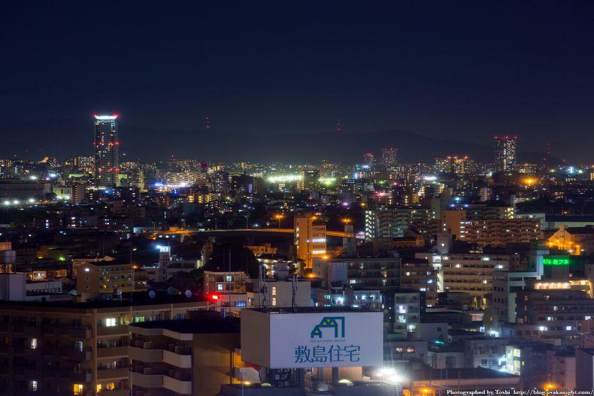 吹田〜摂津方面 夜景 from レム新大阪 2016年6月