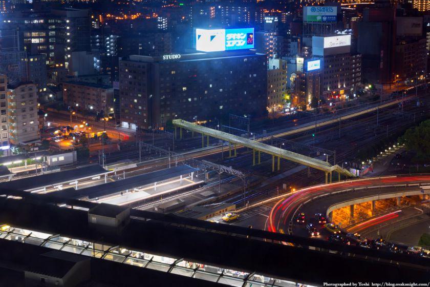 JR東海道本線(JR京都線) 新大阪駅 夜景 2016年6月