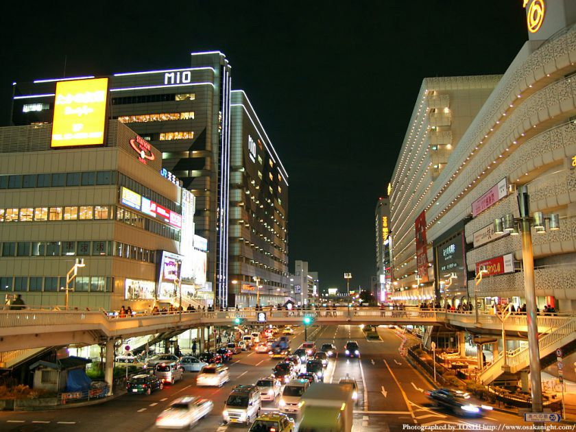 阿倍野歩道橋からの夜景