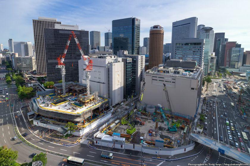 大阪駅前俯瞰 梅田1丁目1番計画ビル 2016年7月