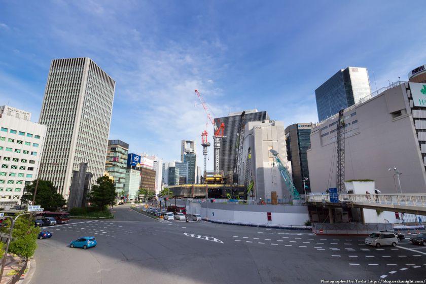 梅田1丁目1番計画ビル 大阪駅前歩道橋より 2016年7月