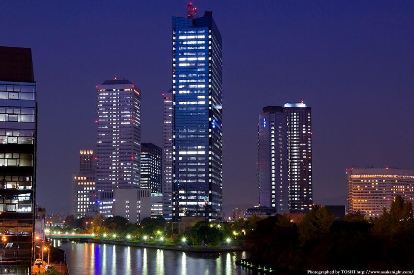 大坂橋から見たOBP方面の夜景