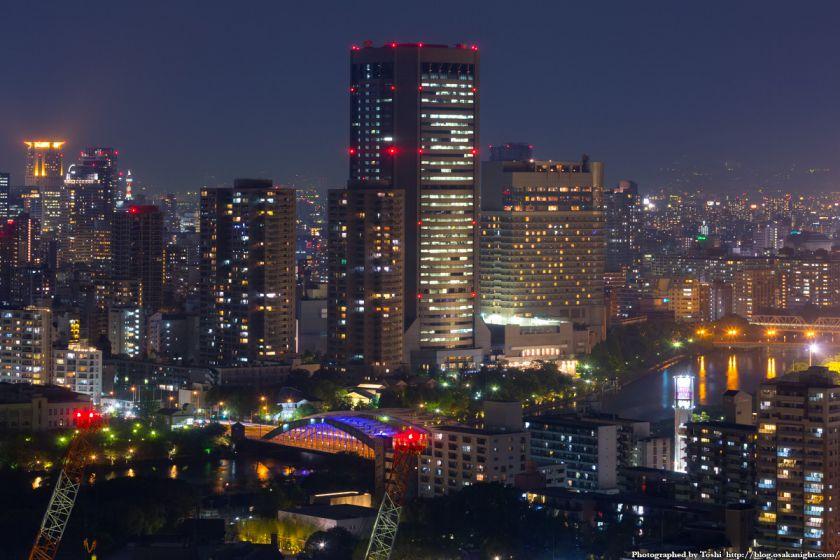 松下IMPビル 夜景 OAP 大阪アメニティパーク 2016年9月