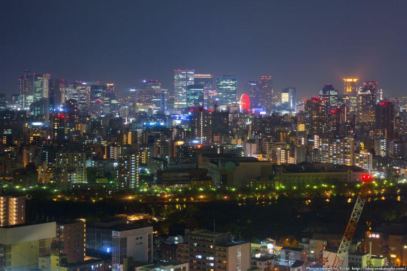 松下IMPビル 夜景 梅田の超高層ビル群 01 2016年9月