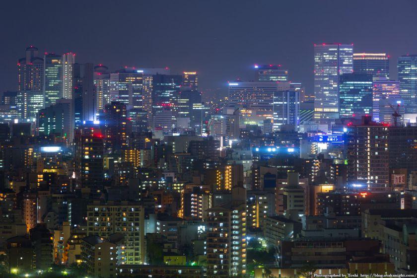 松下IMPビル 夜景 梅田の超高層ビル群 02 2016年9月