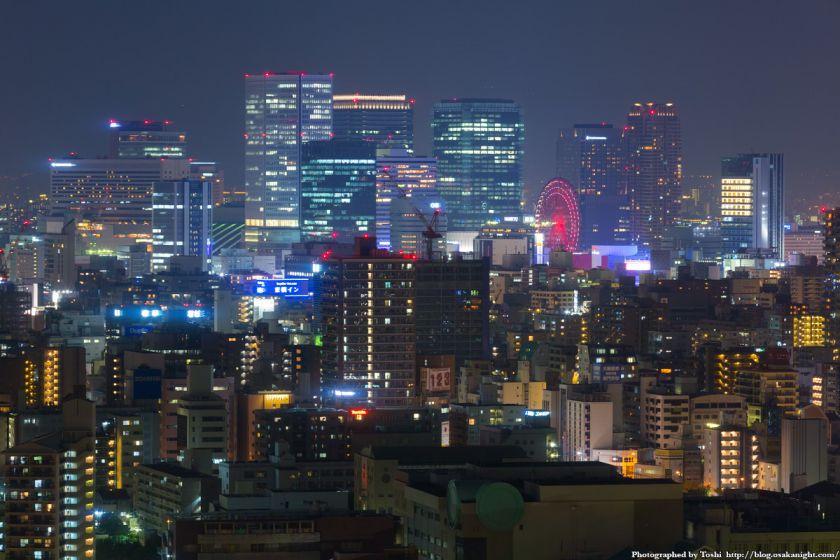 松下IMPビル 夜景 梅田の超高層ビル群 03 2016年9月