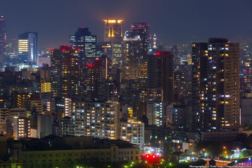 松下IMPビル 夜景 梅田の超高層ビル群 04 2016年9月