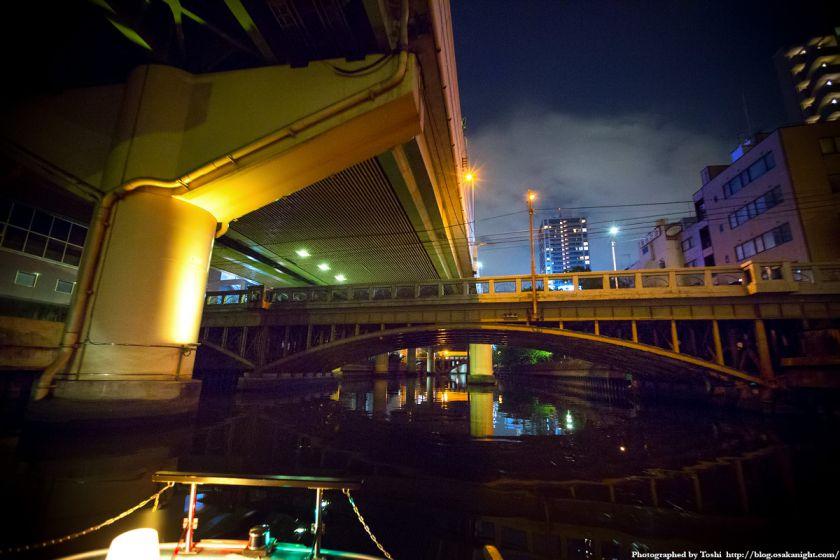 東横堀川クルーズ 平野橋 夜景 2016年9月