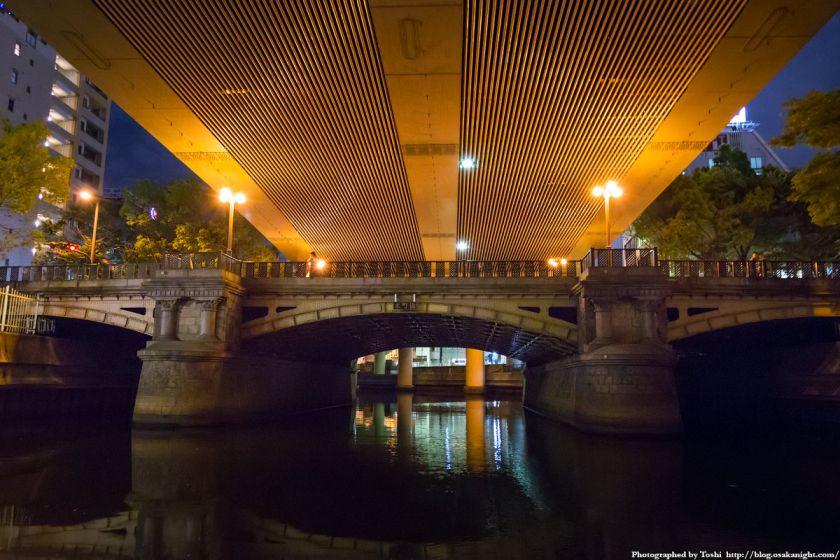 東横堀川クルーズ 本町橋 夜景 02 2016年9月