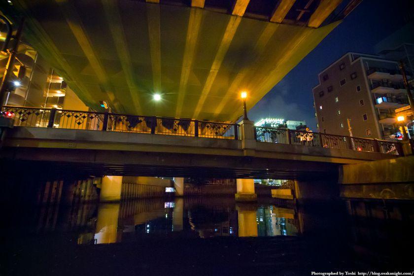 東横堀川クルーズ 上大和橋 夜景 2016年9月