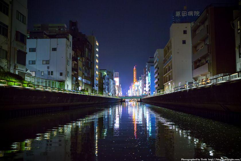東横堀川クルーズ 道頓堀川 夜景 2016年9月