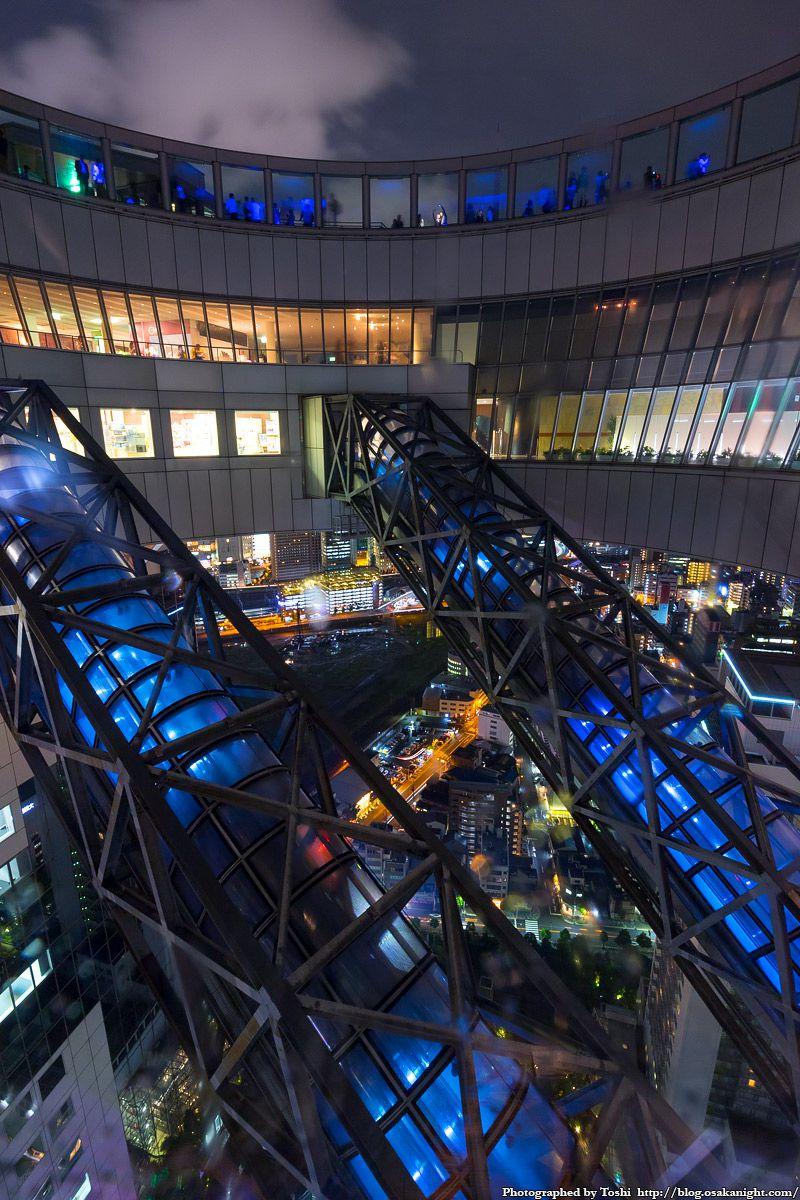 梅田スカイビル 39F 空中庭園の中心部 夜景 02 2016年10月