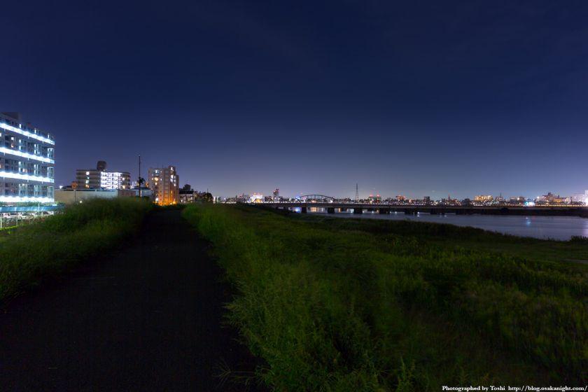淀川河川公園 長柄地区 夜景 2016年10月