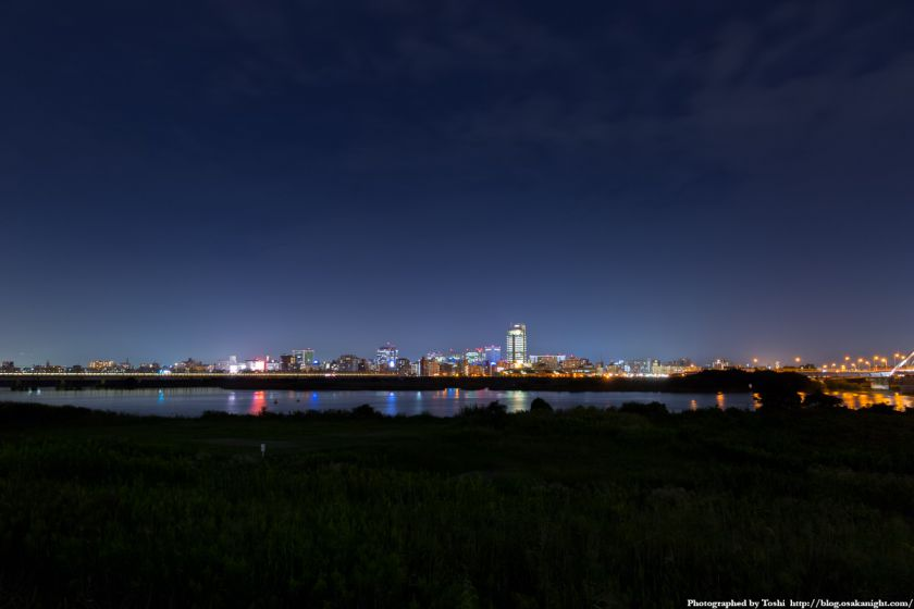 淀川河川公園 長柄地区 新大阪方面 夜景 2016年10月