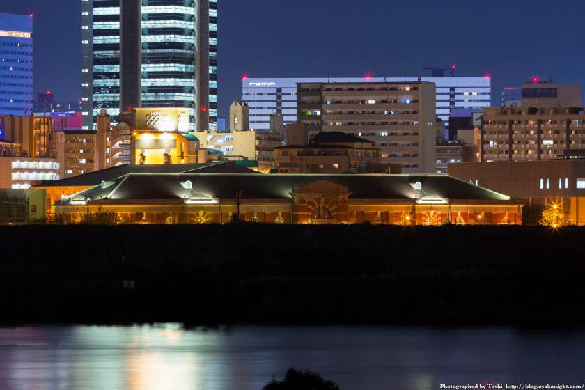 淀川河川公園 長柄地区 水道記念館 夜景 2016年10月