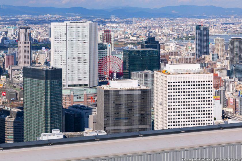中之島フェスティバルタワー 屋上から北方向 阪急梅田駅方面