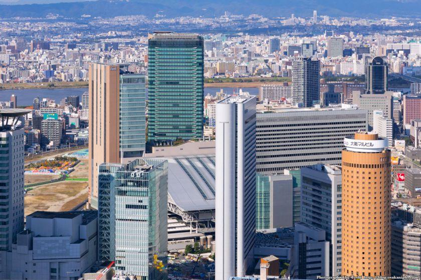 中之島フェスティバルタワー 屋上から北方向 JR大阪駅〜グランフロント大阪方面