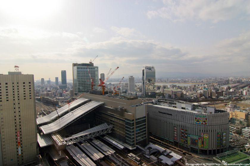 再開発が進む大阪駅周辺(梅田北ヤード着工前)