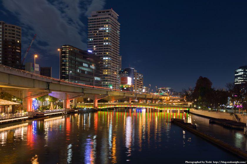 OSAKA光のルネサンス2016 鉾流橋ライトアップ