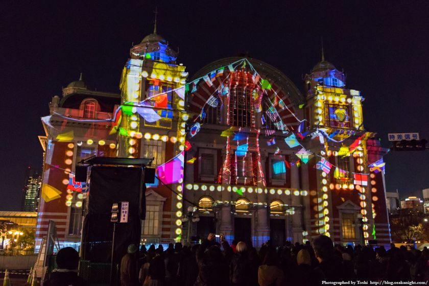 OSAKA光のルネサンス2016 大阪市中央公会堂マッピング 01