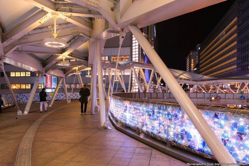 阿倍野歩道橋 イルミネーション 2016