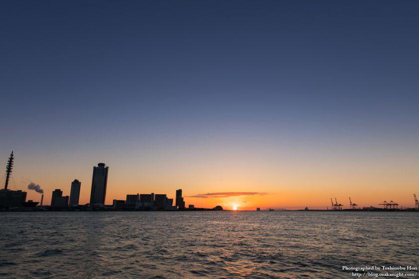 大阪港 中央突堤臨港緑地 夕景 2016年1月 01