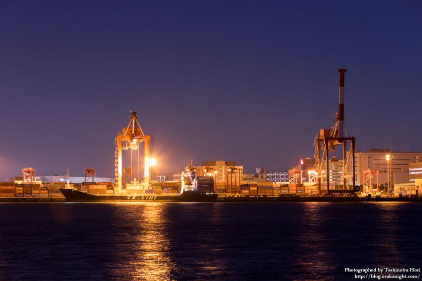 南港コンテナターミナル 夜景 2016年1月