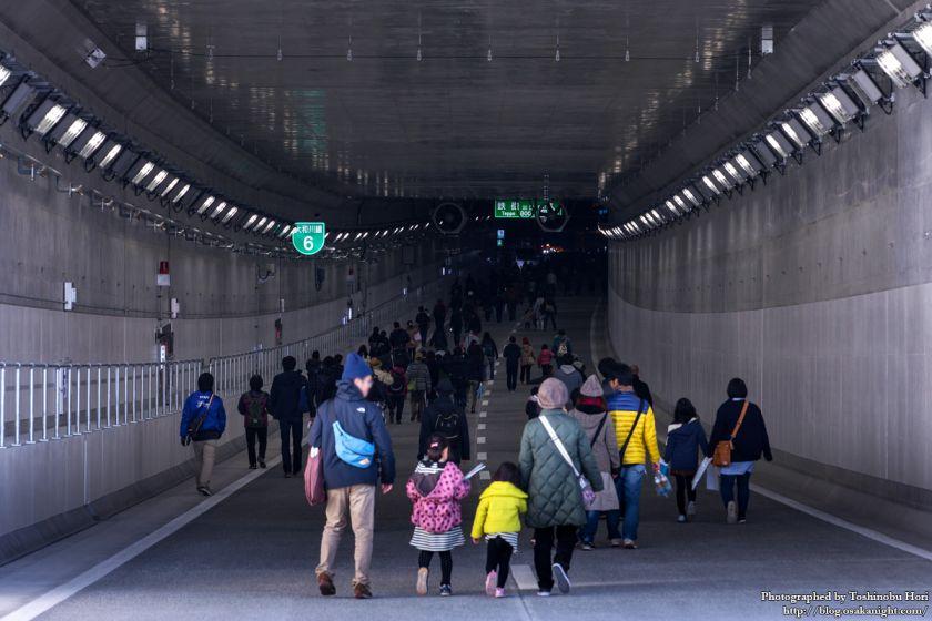 阪神高速大和川線(三宝ジャンクション〜鉄砲)開通記念イベント ハイウェイウォーク 2017年1月 14