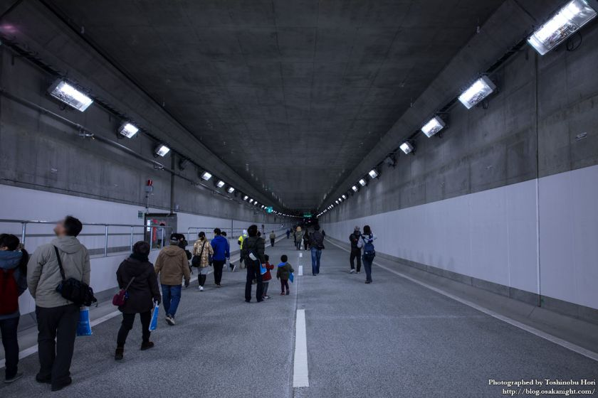 阪神高速大和川線(三宝ジャンクション〜鉄砲)開通記念イベント ハイウェイウォーク 2017年1月 15