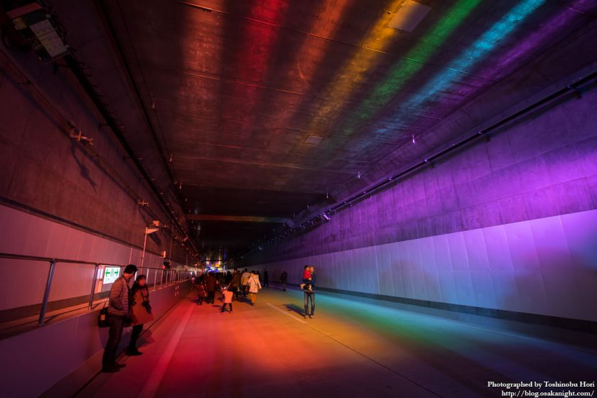 阪神高速大和川線(三宝ジャンクション〜鉄砲)開通記念イベント ハイウェイウォーク 2017年1月 17