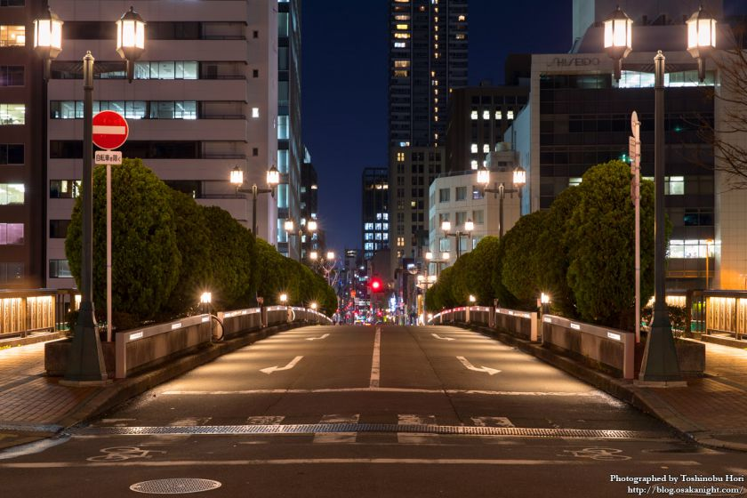 栴檀木橋 橋上夜景 2017年4月