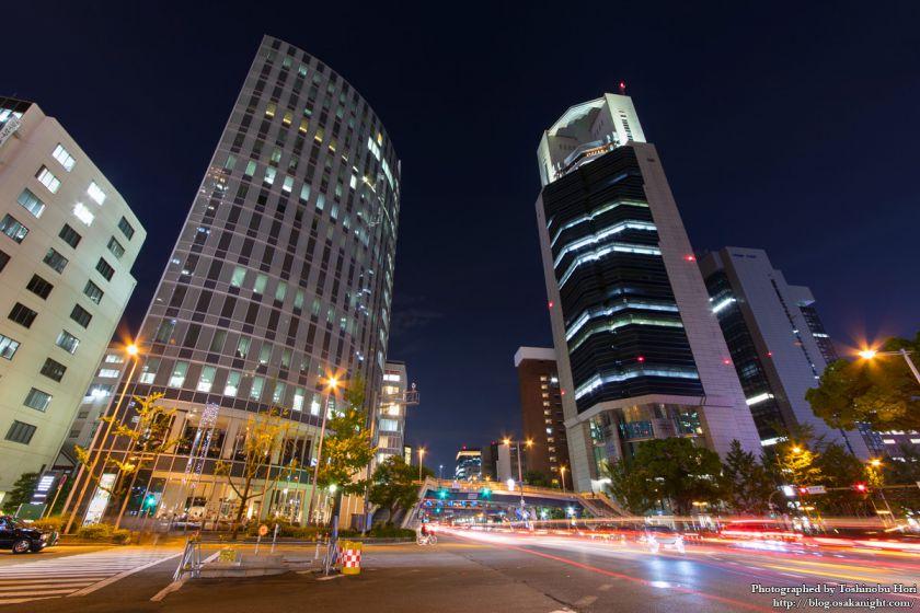梅田新道交差点 夜景 2017年7月