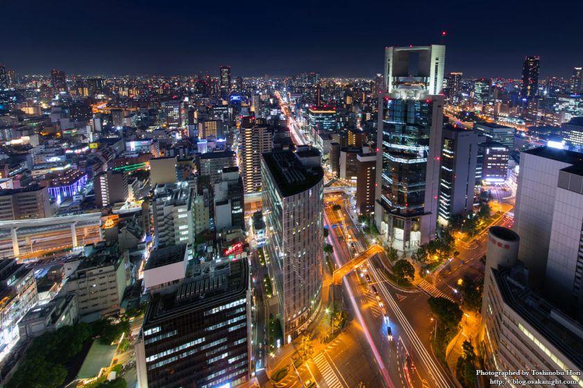 大阪駅前第3ビル展望室からの夜景 2017年7月